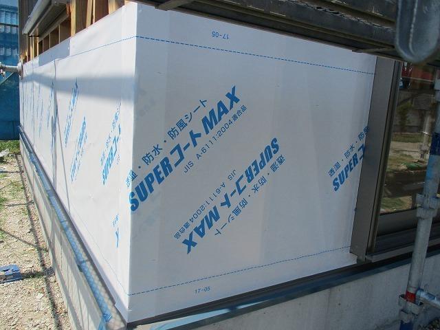 透湿・防水・防風シートを張ります