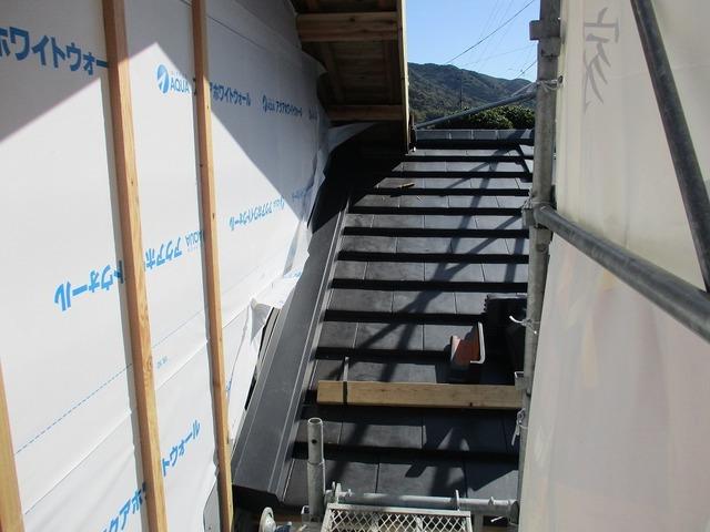 瓦の雨切板金(水切)取付状況