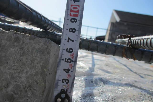 コンクリートの被り寸法チェック1.JPG