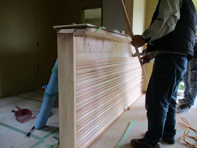キッチン腰壁飾り格子