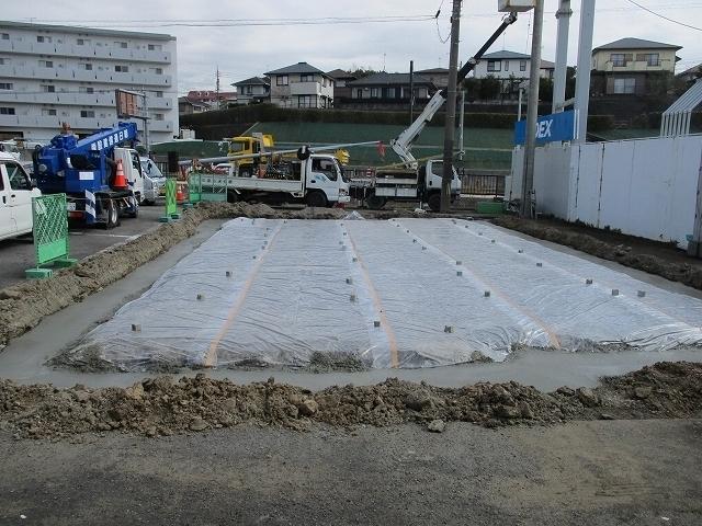 捨てコンクリート打設&防蟻処理