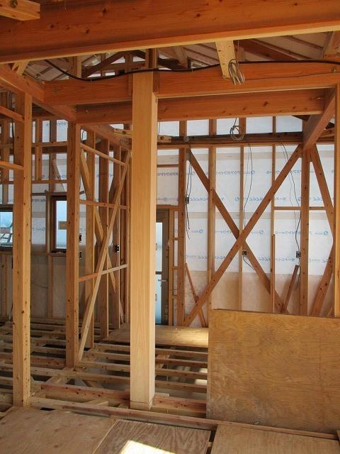 建築中内部の様子