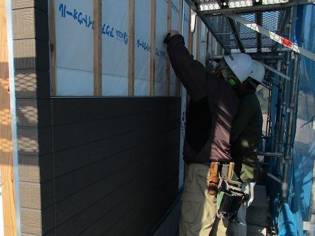 外壁材張り状況