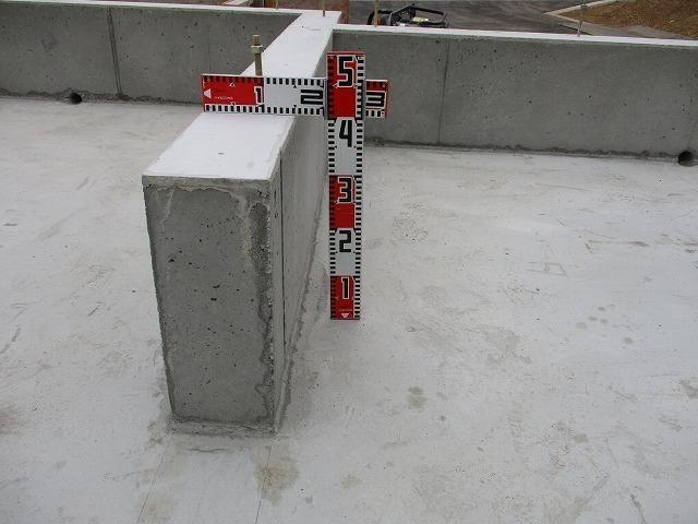 立ち上がりコンクリート打設完了