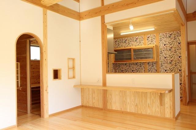 LDK。左側は書斎とペットルーム