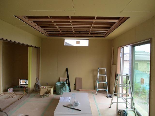 リビングの掘り込み天井
