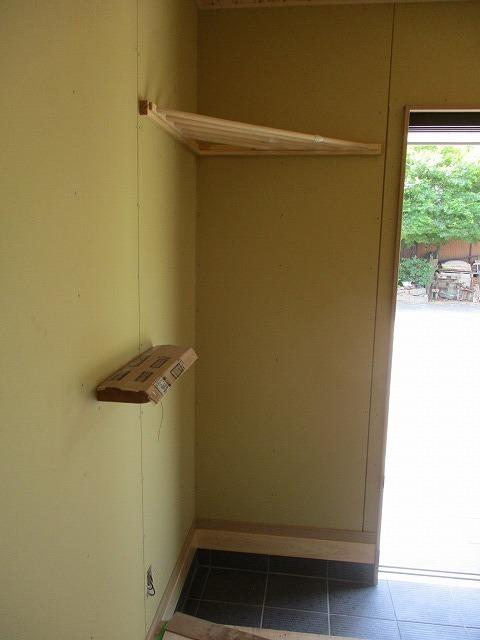 玄関の造り付けカウンター