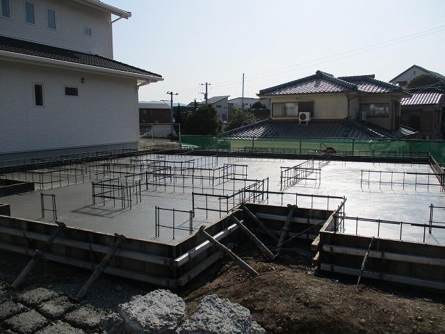 基礎底盤コンクリート打設完了