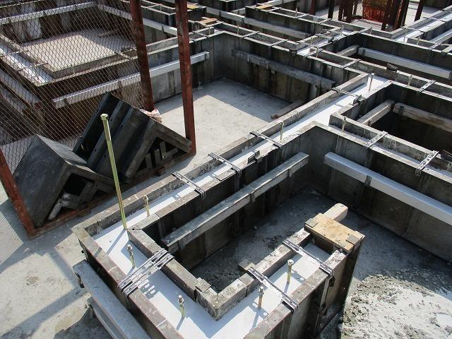 基礎立ち上がりコンクリート打設完了