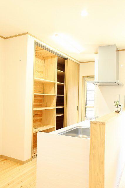 大容量キッチン収納